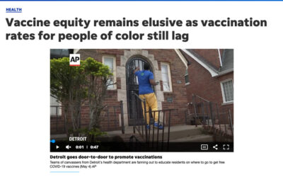 Vaccine equity remains elusive as vaccination rates for people of color still lag